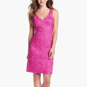 SUE WONG Embellished Soutache Sheath Dress 8 #178
